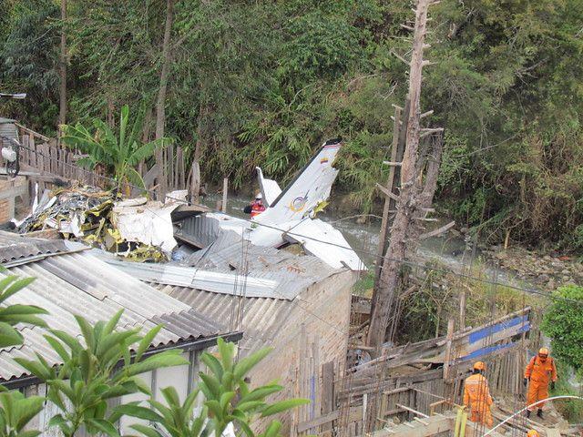 Finalmente fueron siete los fallecidos por la caída de la avioneta en Popayán