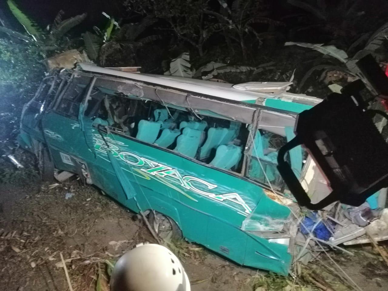 Lista de heridos y hospitales del accidente del bus de scouts en la vía a Cajamarca