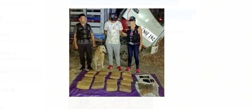 A la cárcel por llevar 17 kilos de marihuana en camión robado