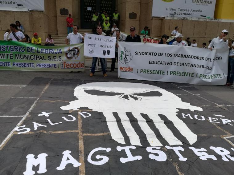 Docentes harán nueva jornada de protesta nacional por amenazas de muerte