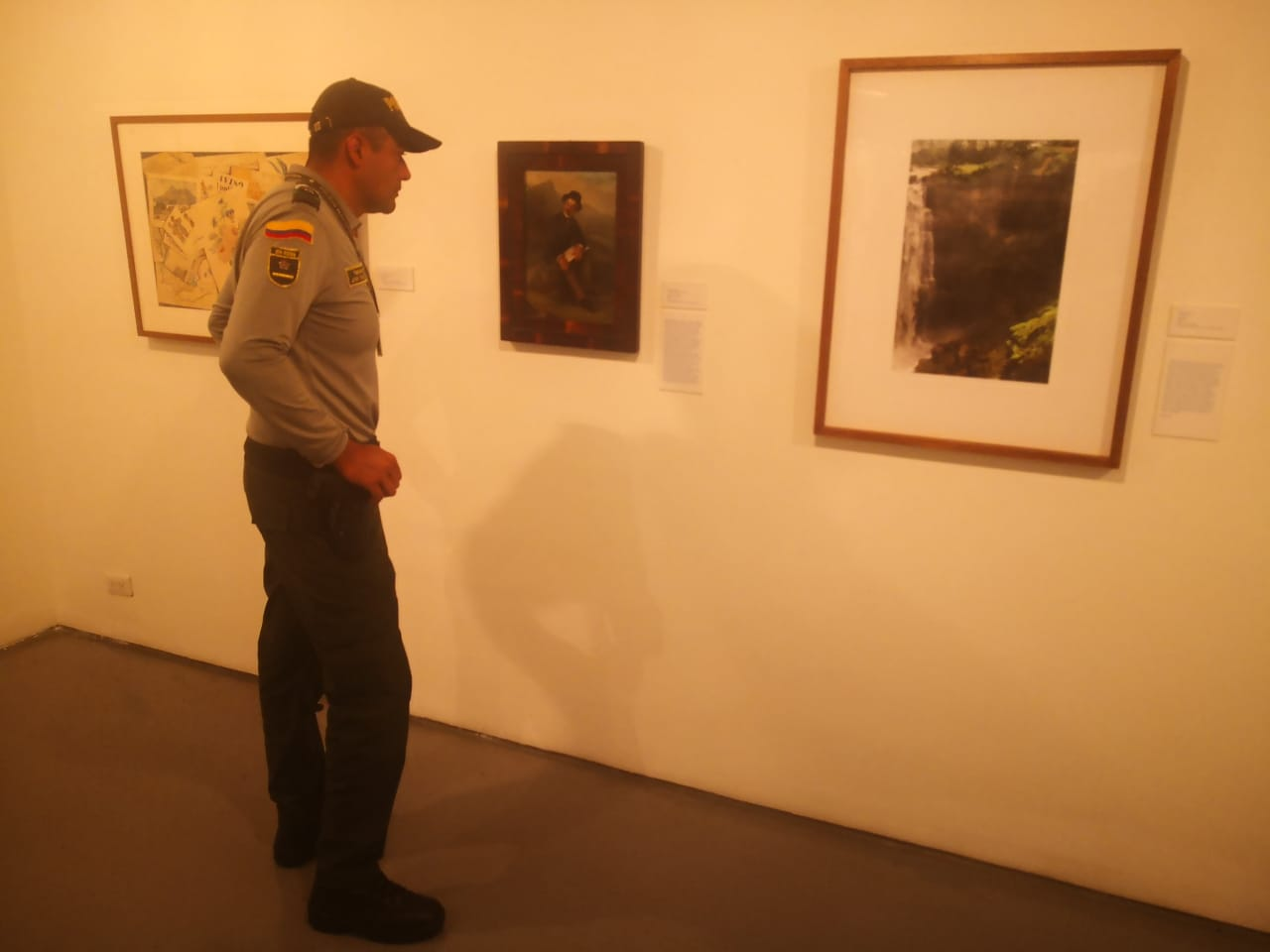 Policía realizó controles a obras de artes