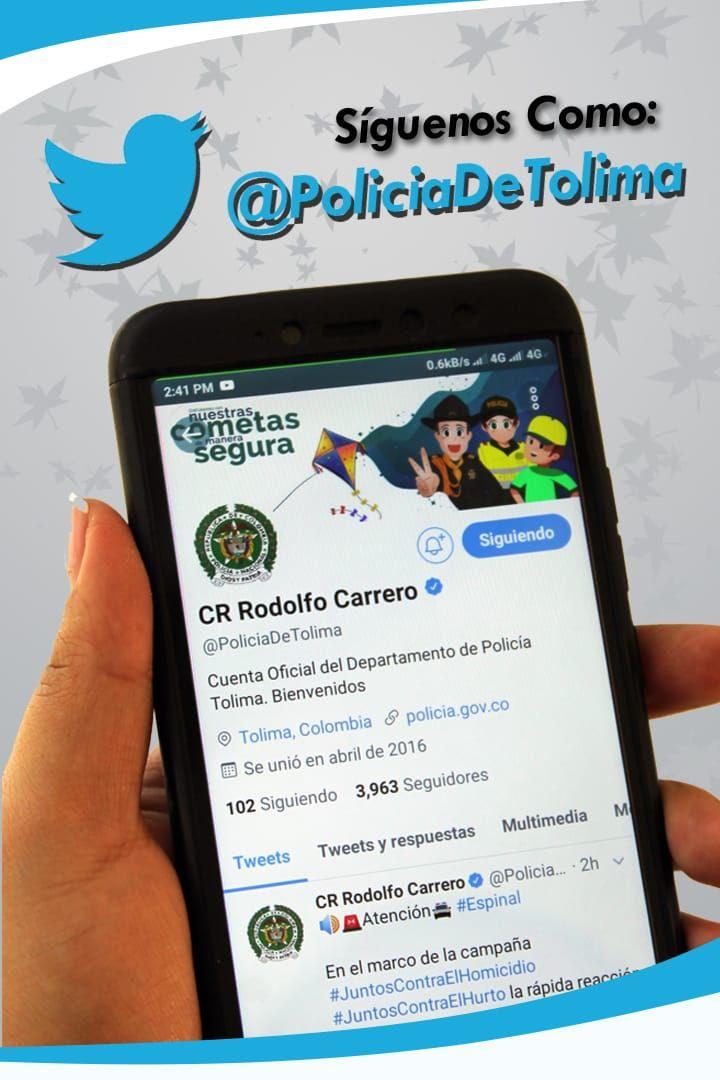 Policía Nacional y del Tolima, más cerca de la comunidad por redes sociales
