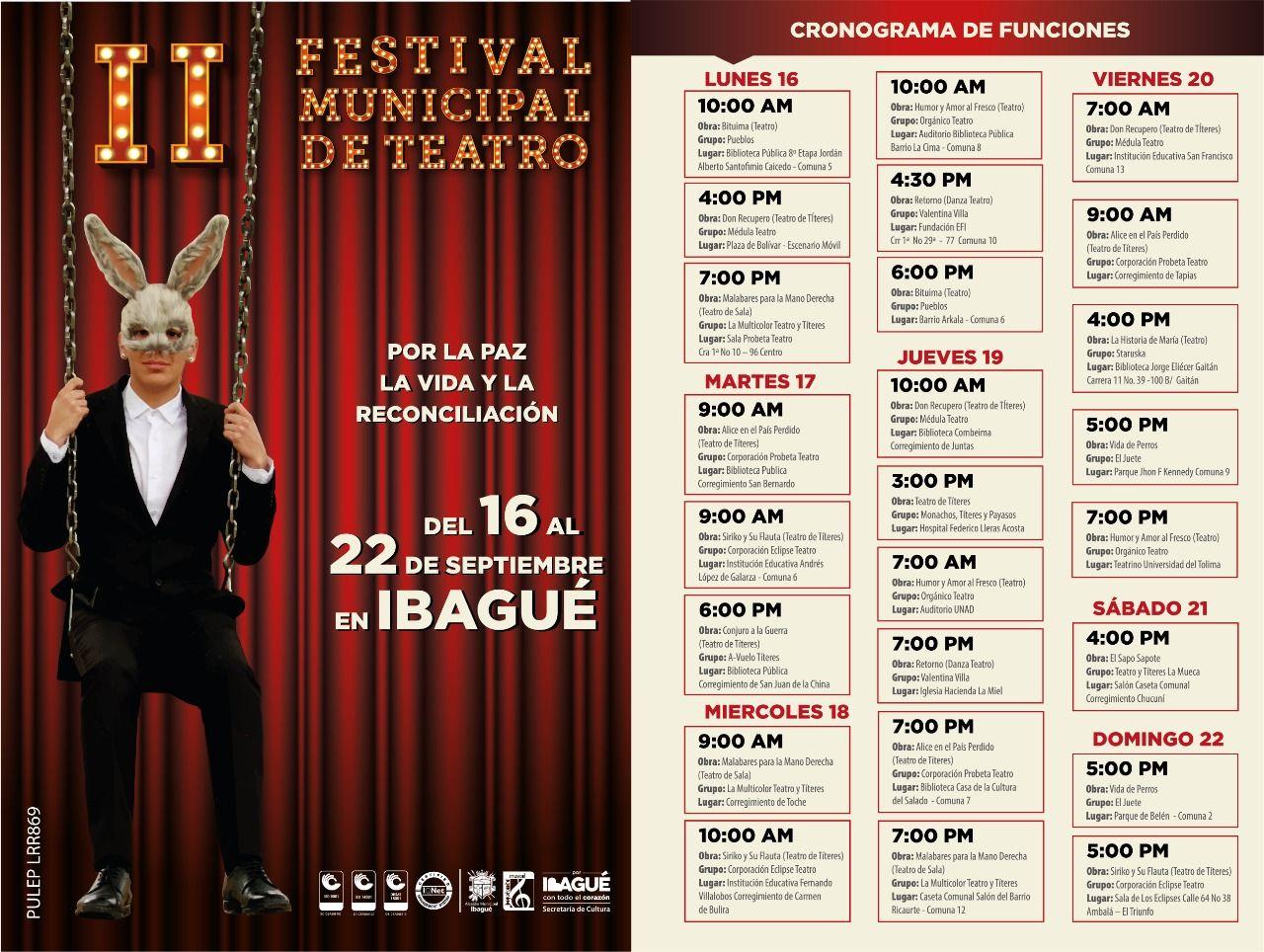 Disfrute las funciones del Segundo Festival Municipal de Teatro