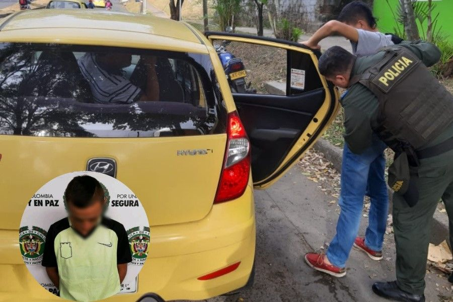 Policía halló casi una libra de marihuana a pasajeros de un taxi