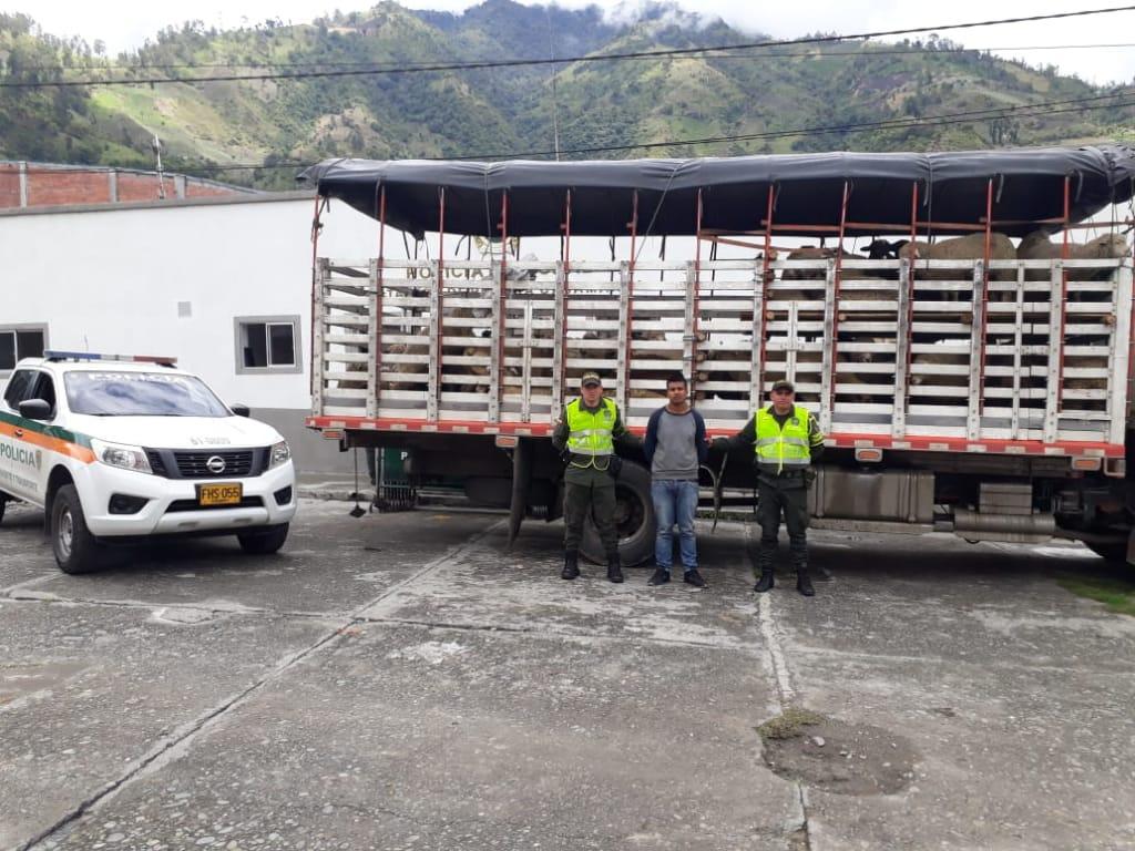 Capturado conductor de camión con licencia falsa