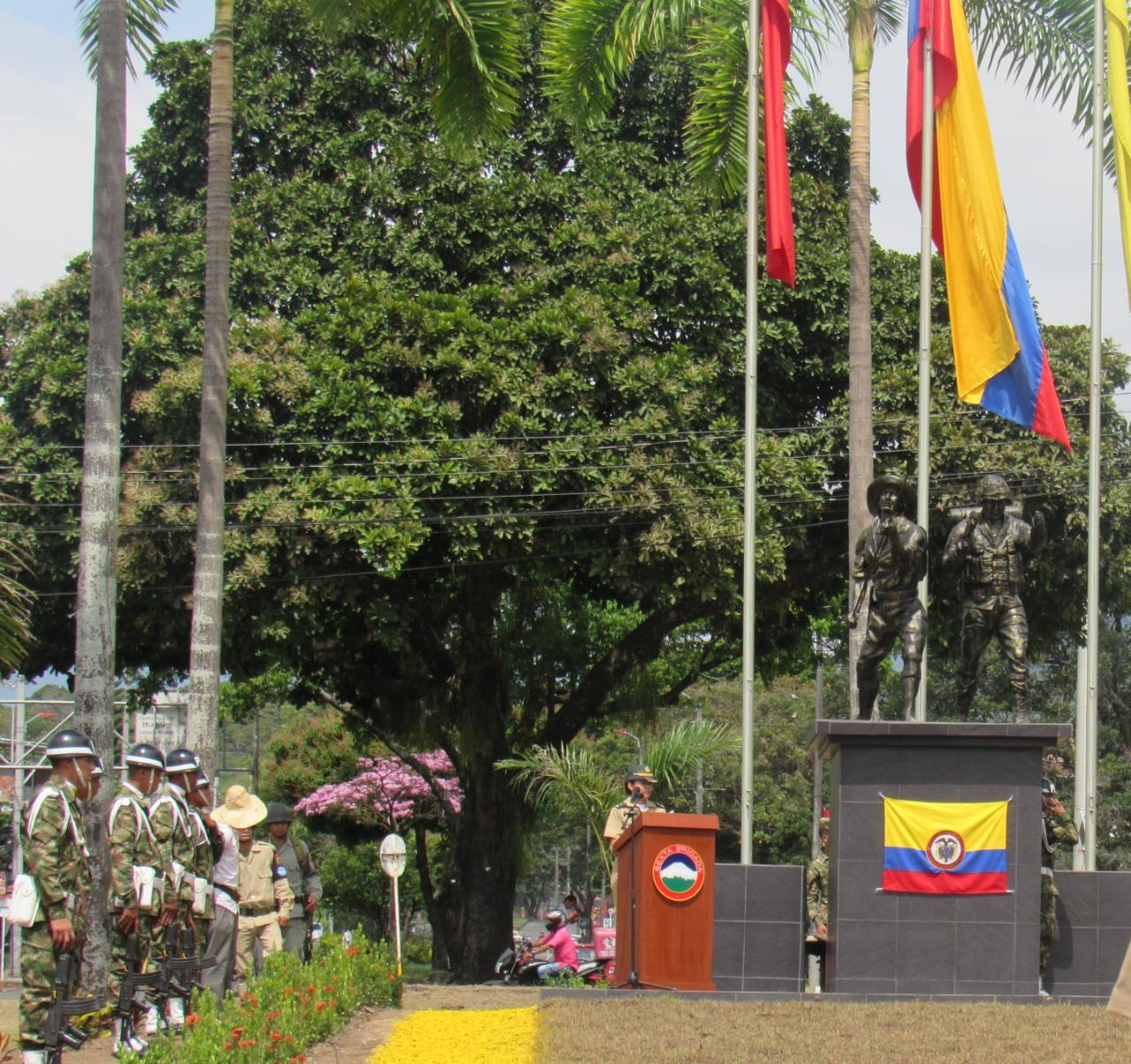 Dieron a conocer el monumento 'Héroes de la Libertad' en la glorieta de El Vergel