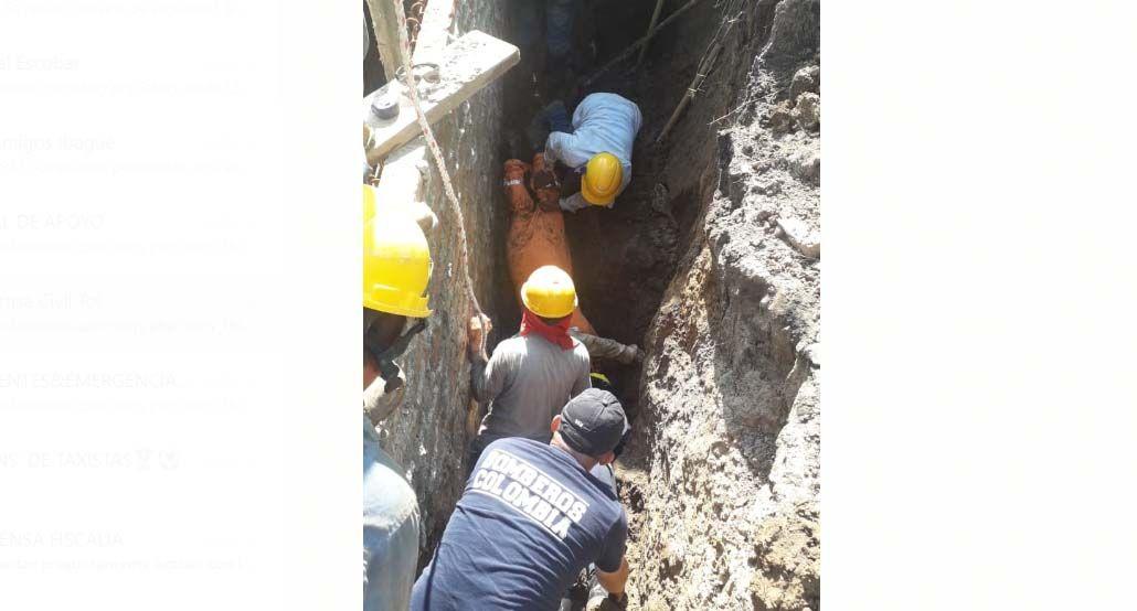 Rescatados vivos dos obreros tapados por alud en el barrio La Cima