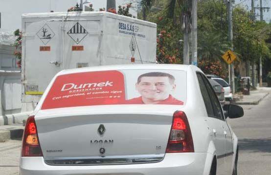 Cinco comparendos y un vehículo inmovilizado por publicidad política sin permiso