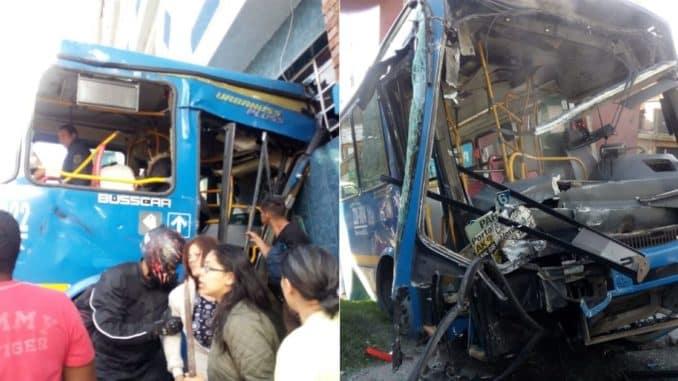 Setenta heridos y lesionados por choque de buses del Sitp en Bogotá