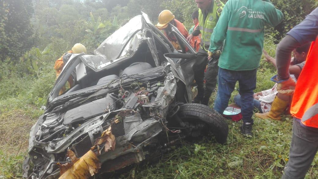 Adulta mayor falleció por caída de carro a un abismo en el sector de La Línea