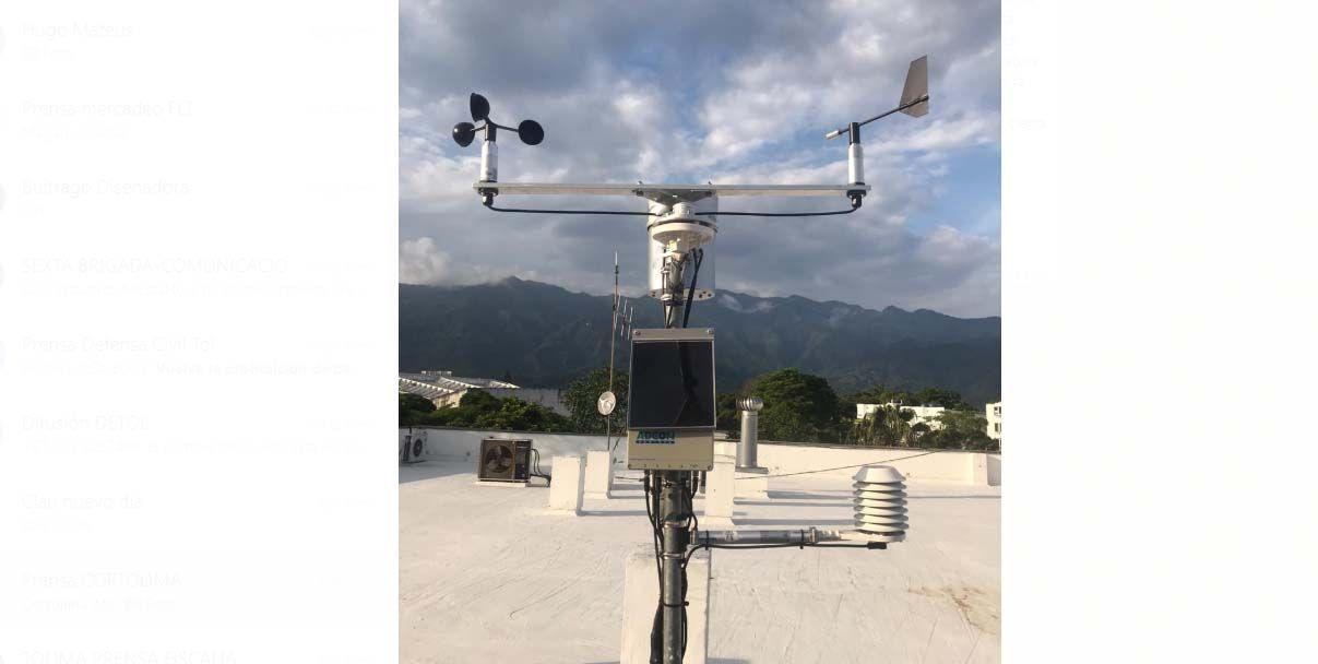 Entra en operación una moderna estación meteorológica al servicio del Tolima