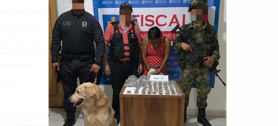 Judicializada por tenencia de marihuana en su casa en Espinal