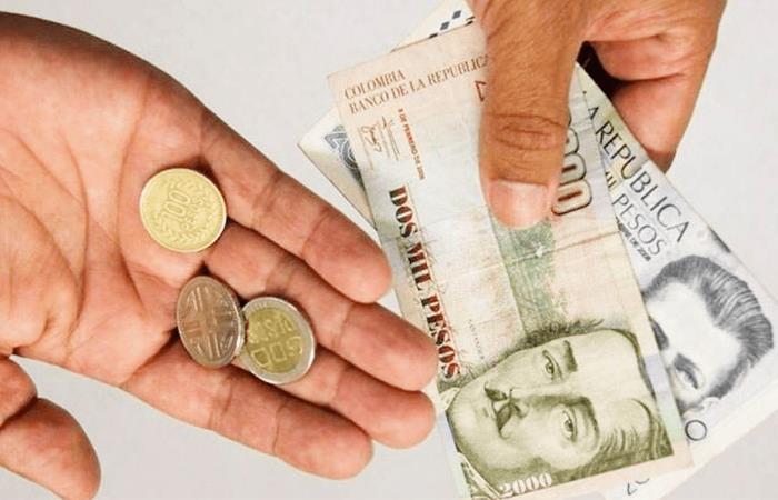Salario mínimo en Colombia aumentará un 6% desde el Primero de enero
