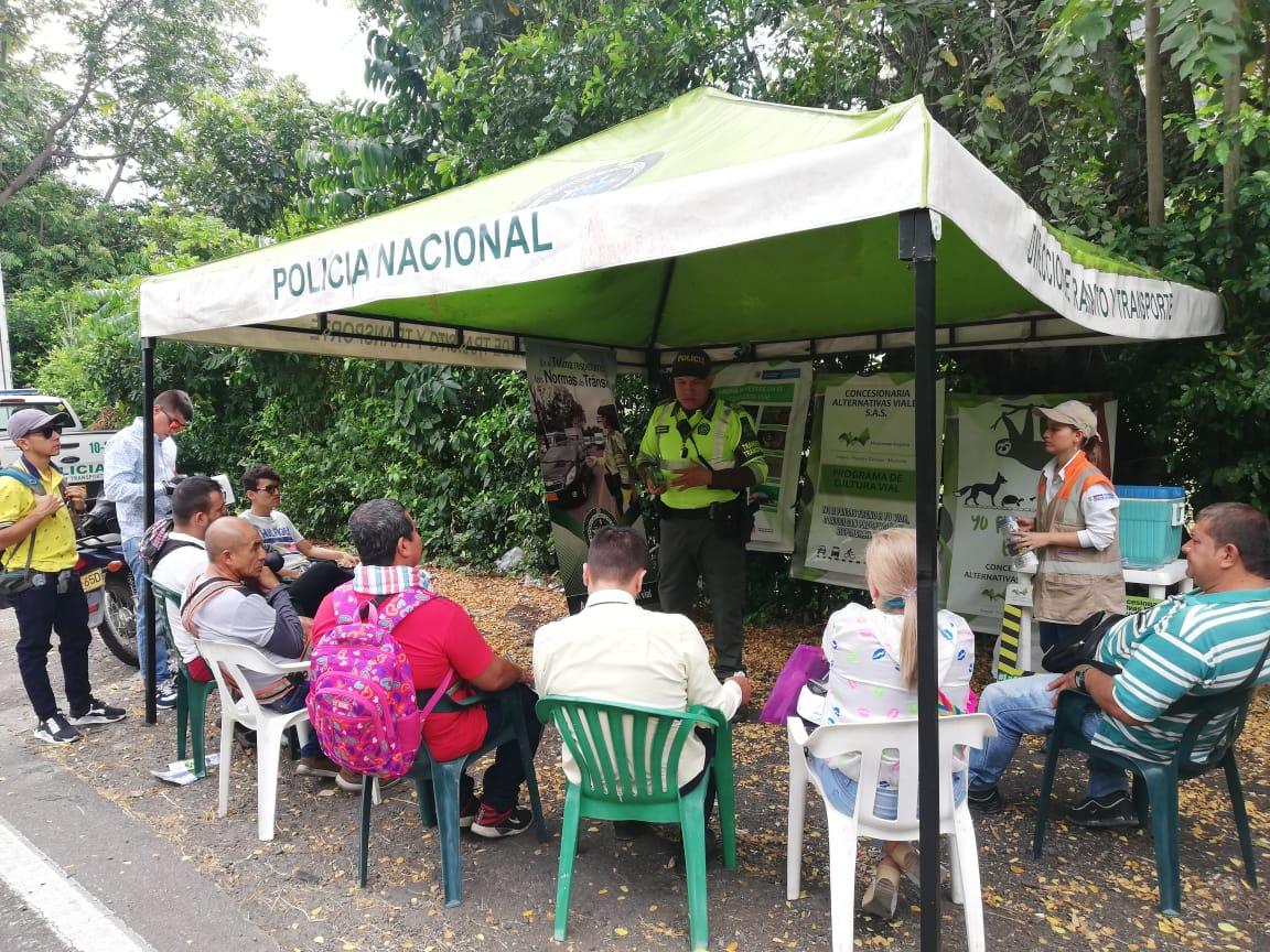 Campaña de responsabilidad vial de la Policía en principales ejes del Tolima