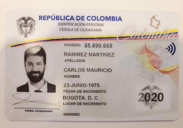 Así sería la nueva cédula de los colombianos