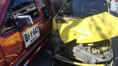 Fotos: Fuerte 'carambola' entre dos taxis y camioneta en la 26 con Cuarta Tamaná