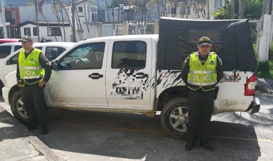 Policía recuperó en el Líbano una camioneta hurtada en Neiva