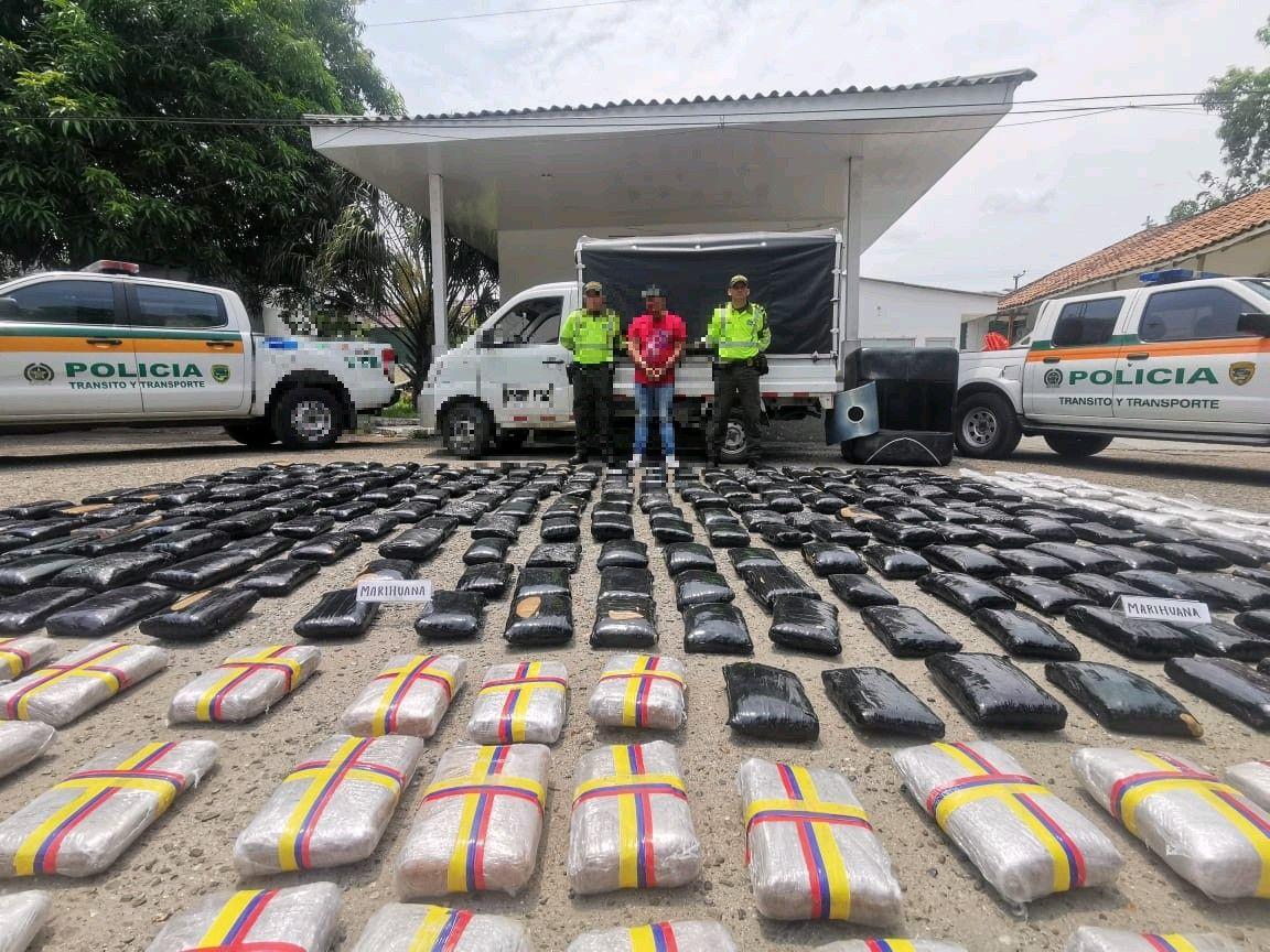 Otro golpe al tráfico de marihuana en carreteras del Tolima