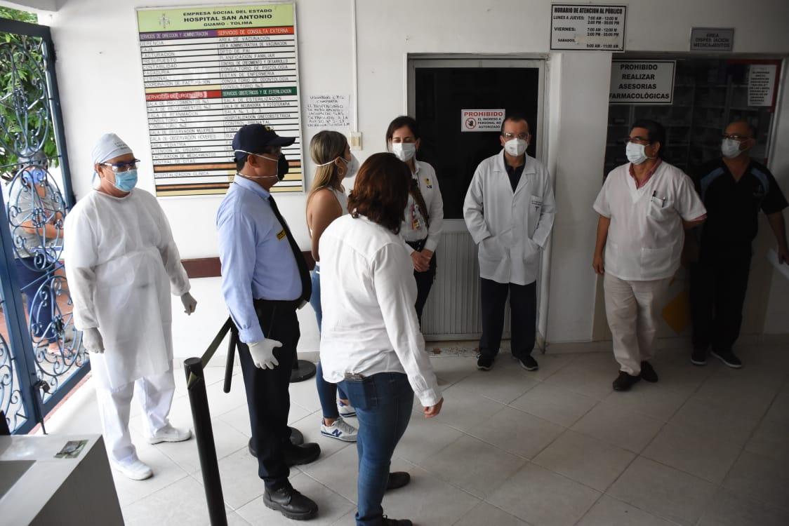 Visita sorpresa a seis hospitales del Tolima