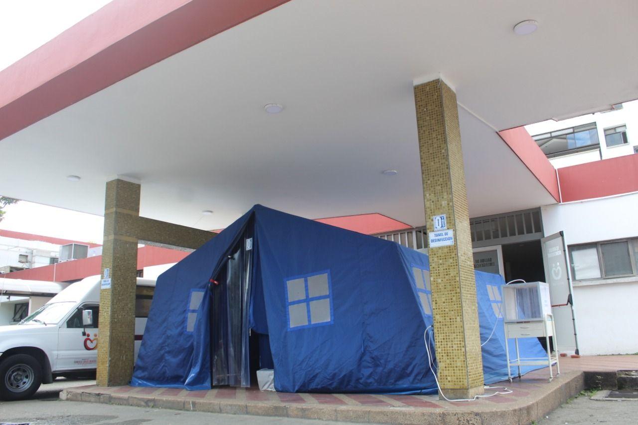 Hospital Federico Lleras Acosta ya cuenta con tres túneles de desinfección contra el Covid-19