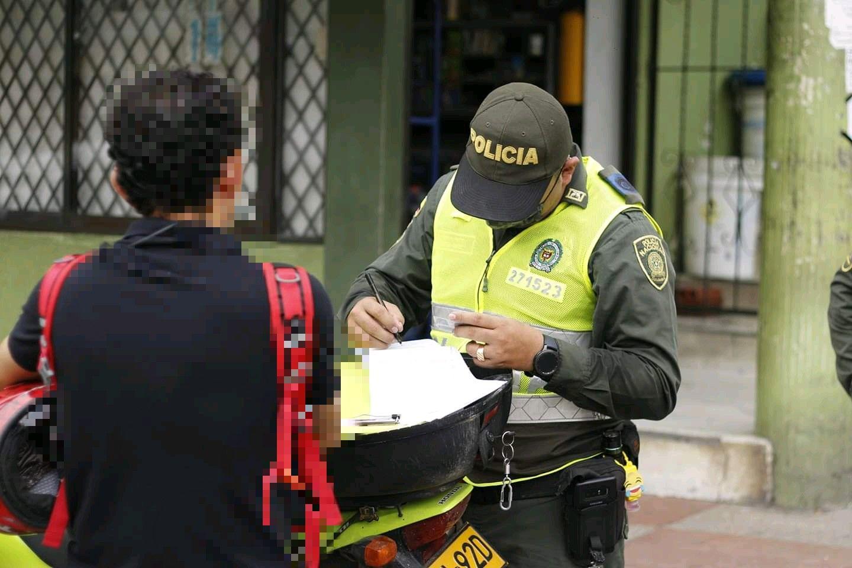 Policía ha impuesto 1771 comparendos por no acatar la 'cuarentena'