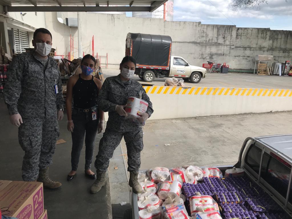 Fuerza Aérea en el Tolima sigue entregando mercados a familias vulnerables