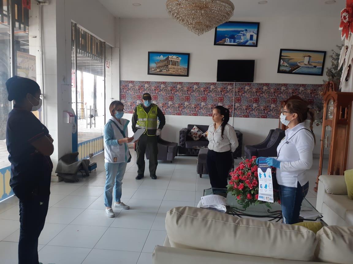 Alcaldía realiza seguimiento al sector hotelero durante cuarentena