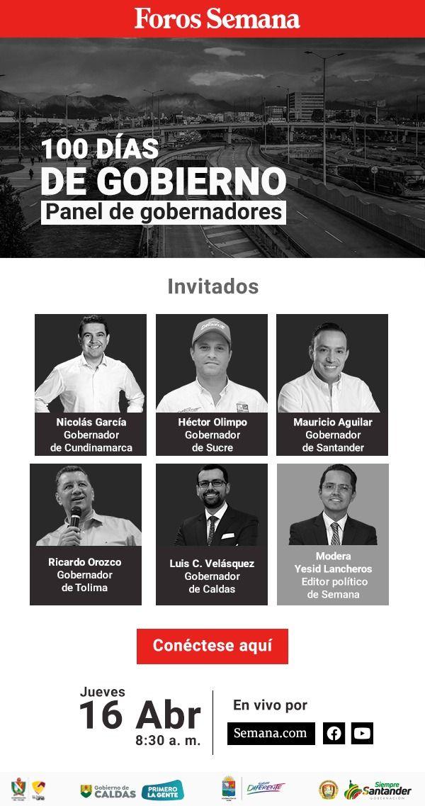 Gobernador del Tolima estará en panel de invitados de Revista Semana