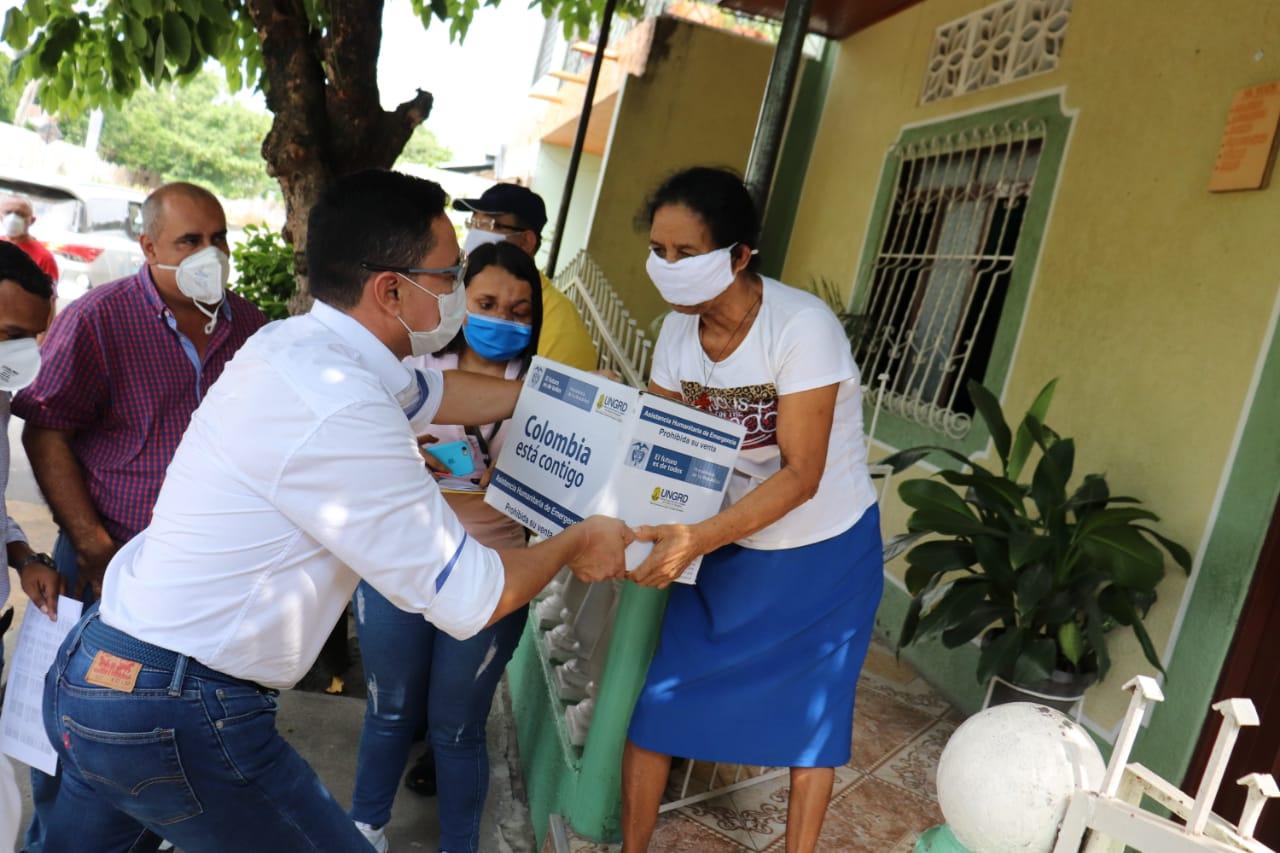 Asistencias humanitarias para adultos mayores de 70 años siguen llegando al territorio tolimense