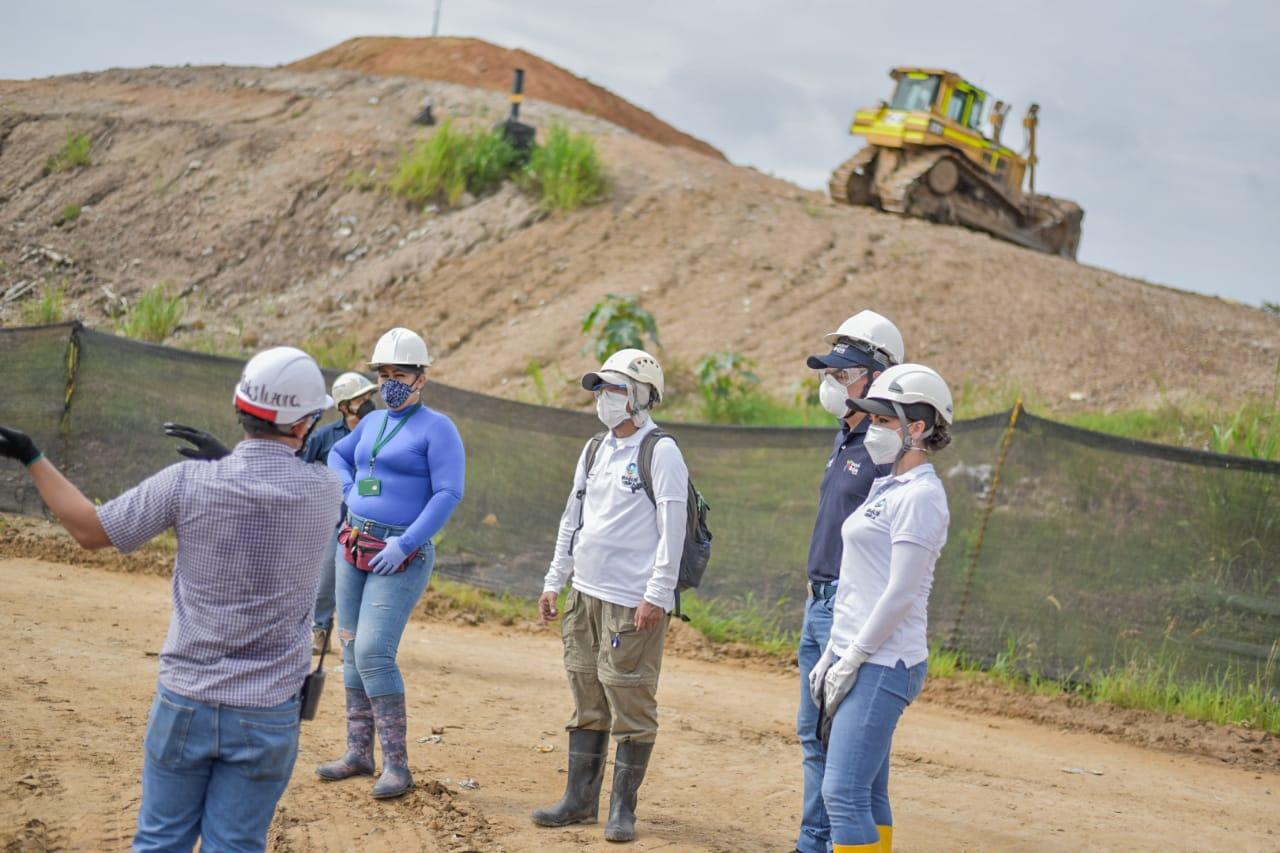 Autoridades realizaron visita de inspección al relleno sanitario La Miel