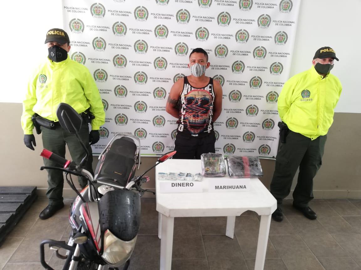 Asegurado soldado capturado con un kilo de marihuana