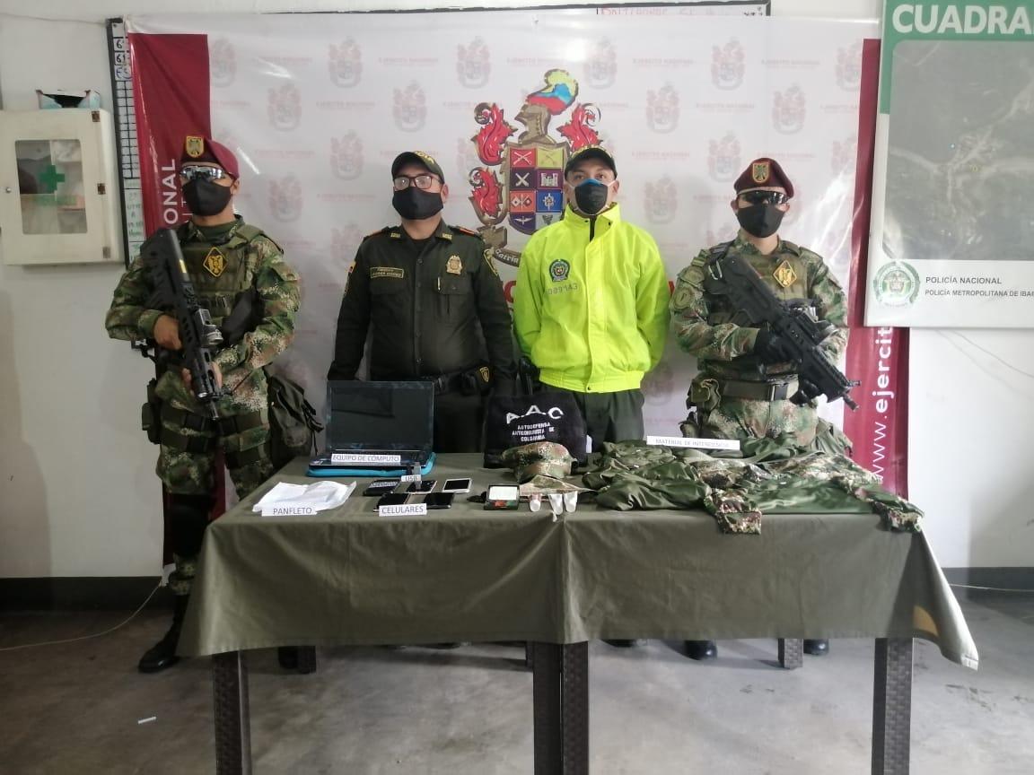 Material bélico de grupo de autodefensas fueron hallados en zona rural de Ibagué