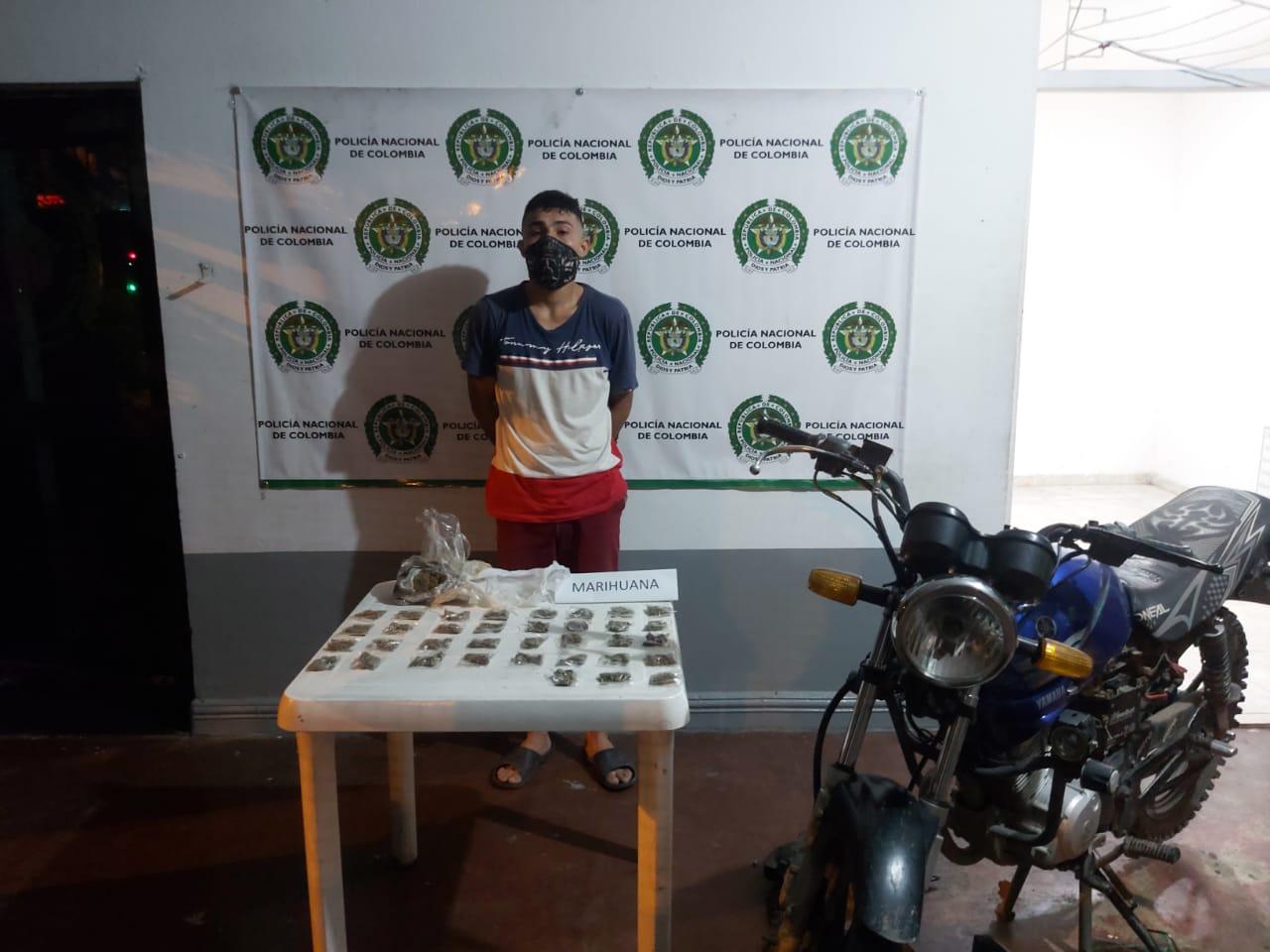 Medida de aseguramiento por tráfico de estupefacientes en Saldaña