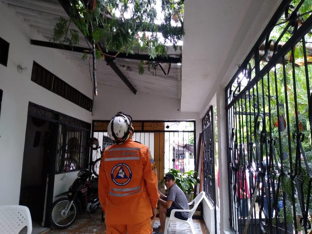 Al menos 50 casas afectadas por inundaciones y tormenta eléctrica en Espinal