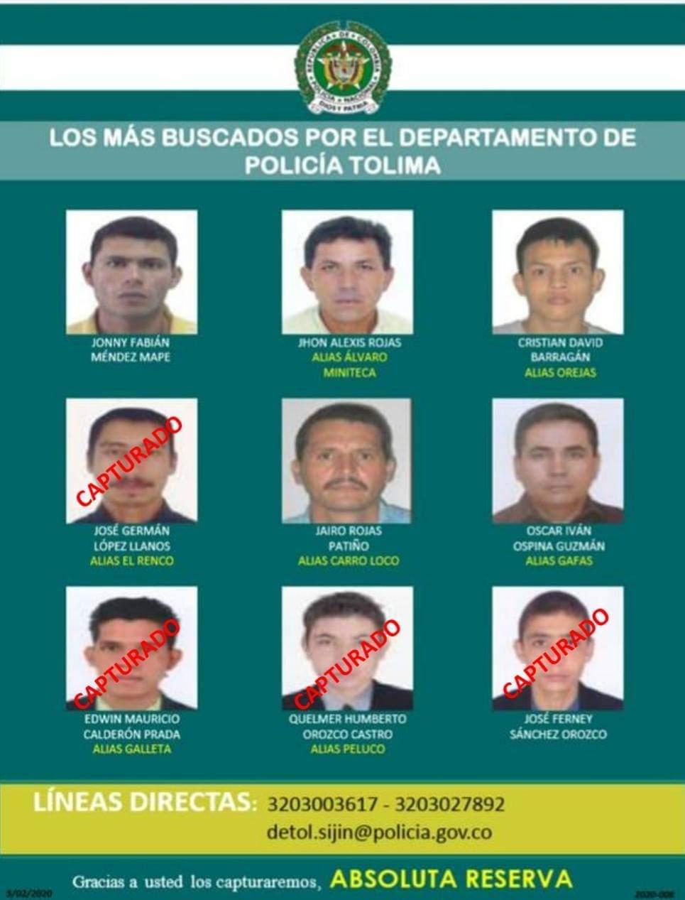 Cayó 'Alvaro Miniteca', uno de los nueve más buscados