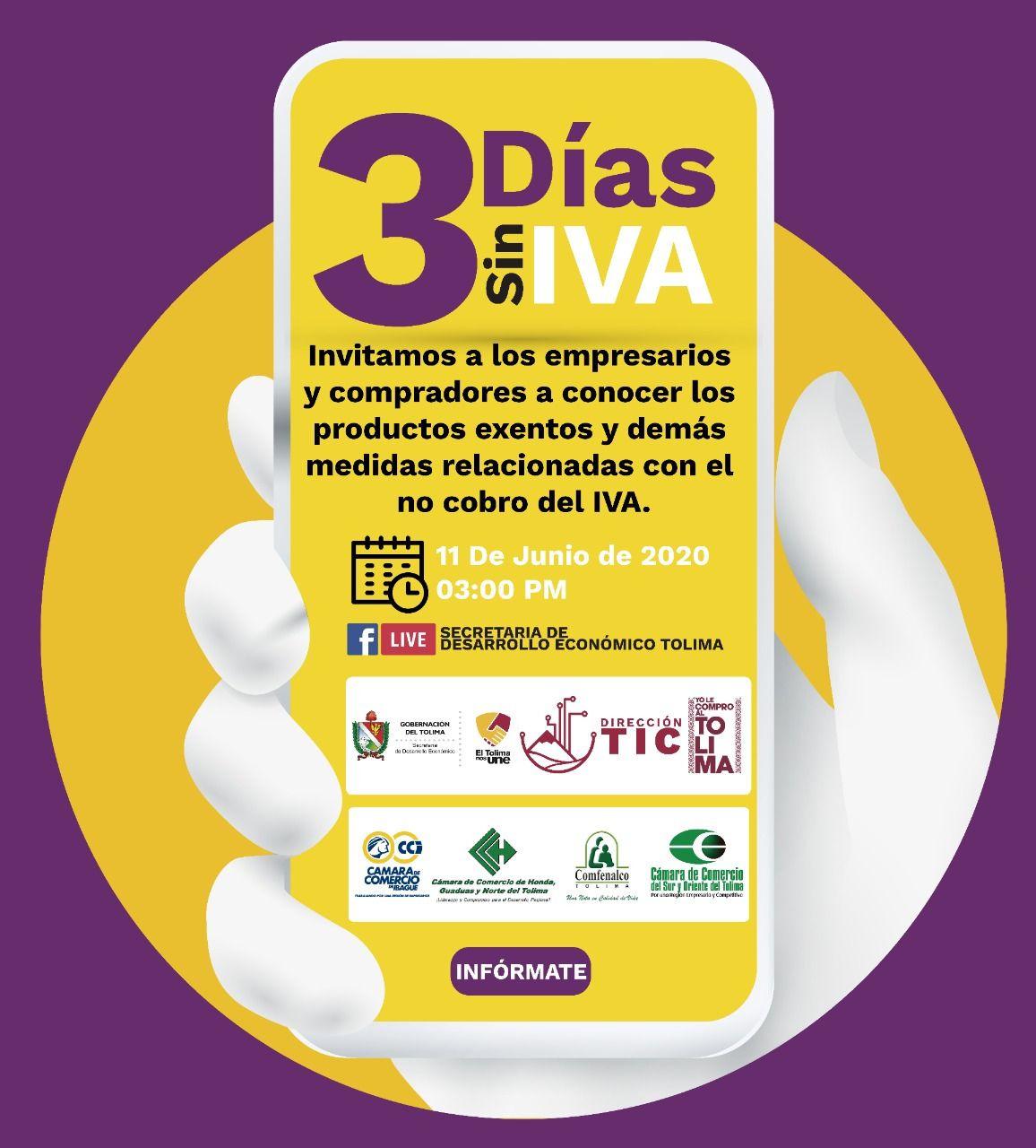 Resuelva sus dudas sobre los tres días sin IVA en Colombia