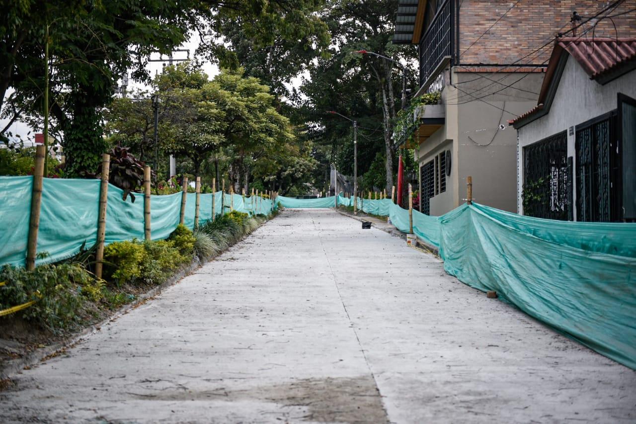 Alcaldía de Ibagué pavimentó 700 metros cuadrados de la 'paralela' de la Quinta.