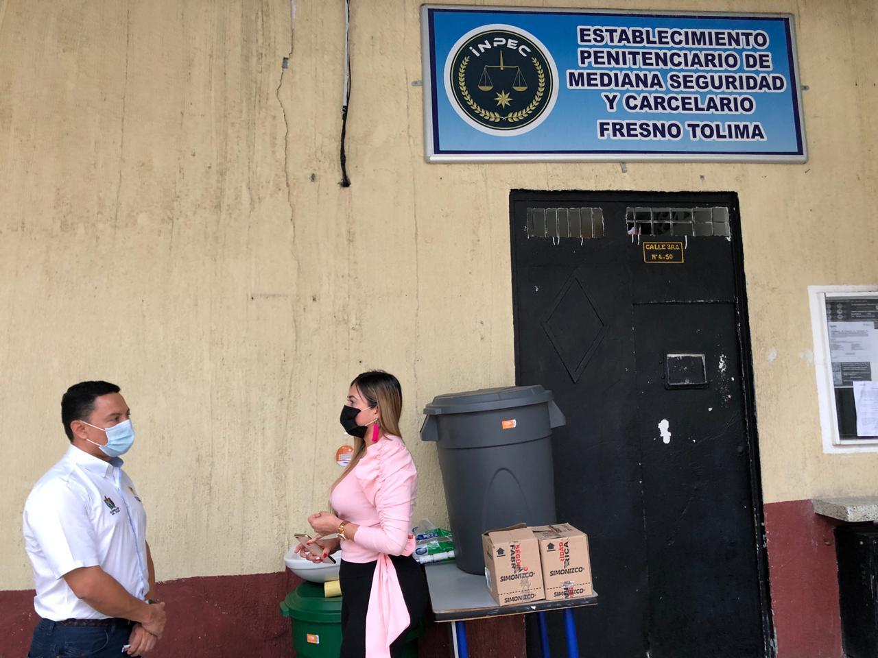 Entregan elementos de bioseguridad en cárceles del Tolima