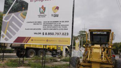 Pavimentación de la vía Purificación - Chenche Asoleado ya es una realidad