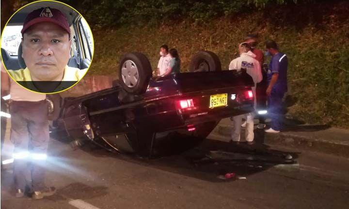 La última carrera de 'Rufi': El taxista que murió en su carro volcado en la Guabinal con 37