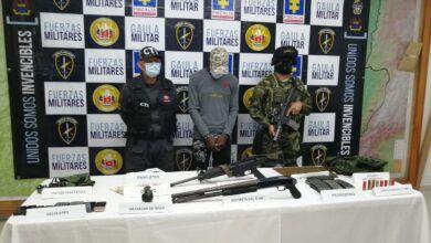 Asegurado resunto cabecilla de finanzas del frente Comandante Alfonso Cano