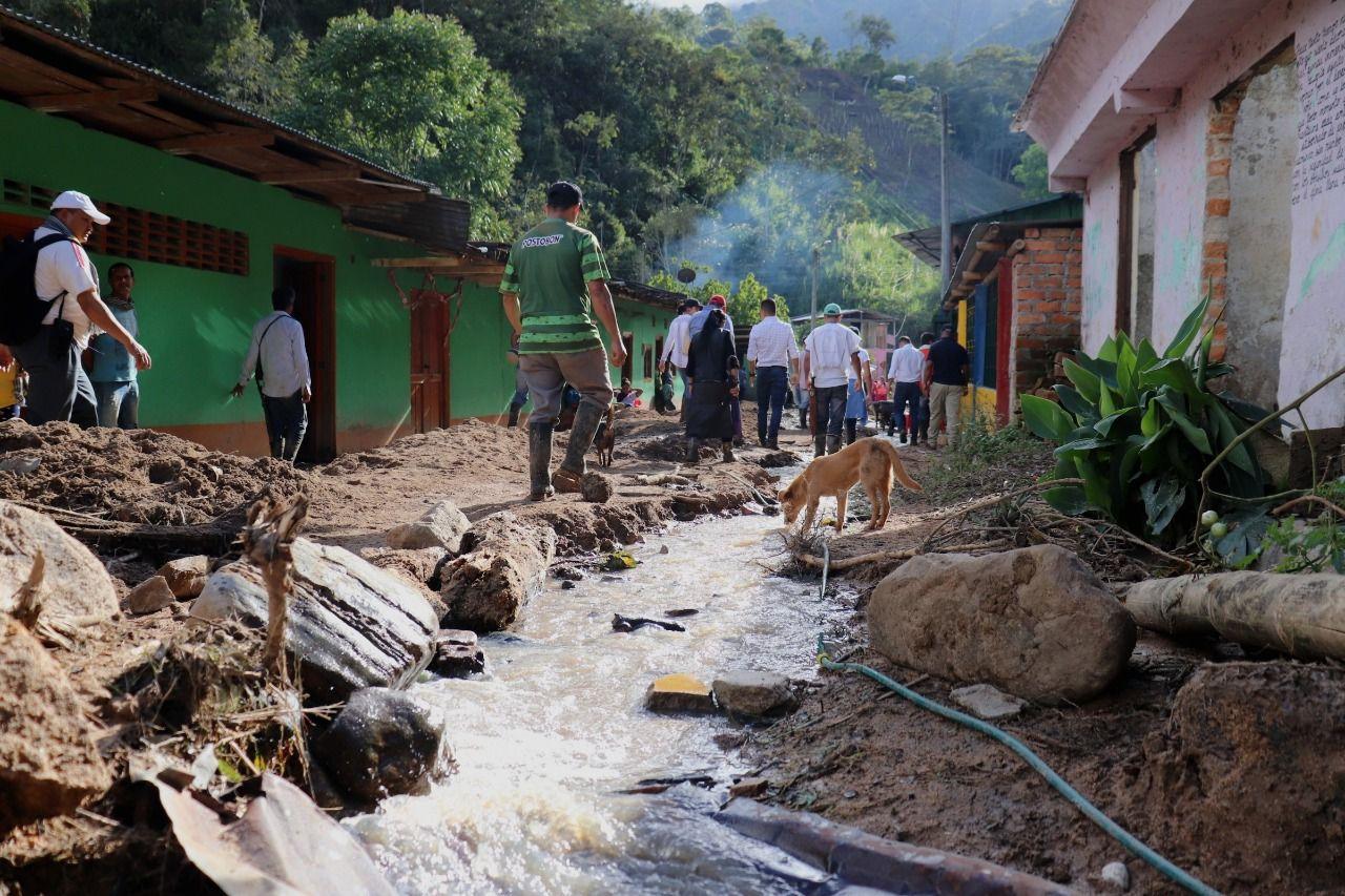 En fotos: Balance de damnificados y afectaciones por lluvias y avalancha en veredas de Rovira