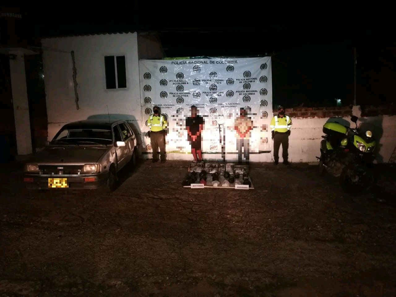 Cayó 'narco-móvil' con 25 kilos en marihuana cerca a Saldaña