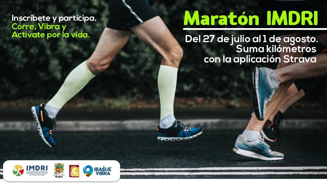 Imdri invita a maratón virtual a través de la aplicación Strava