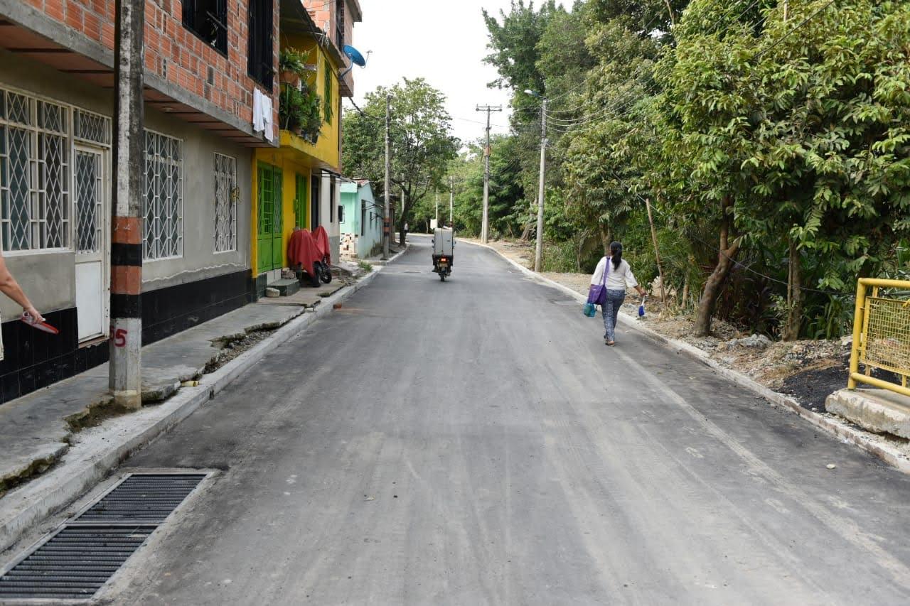 Luego de 25 años, el barrio Protecho El Salado ya cuenta con una nueva vía principal