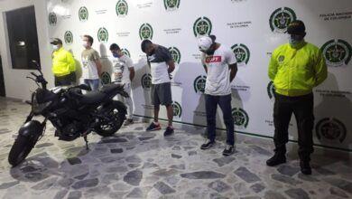 'Los del Occieente' hurtaban motos y extorsionaban a sus dueños