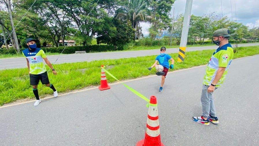 Imdri puso en marcha plan piloto para la ciclovía hacia en el aeropuerto Perales