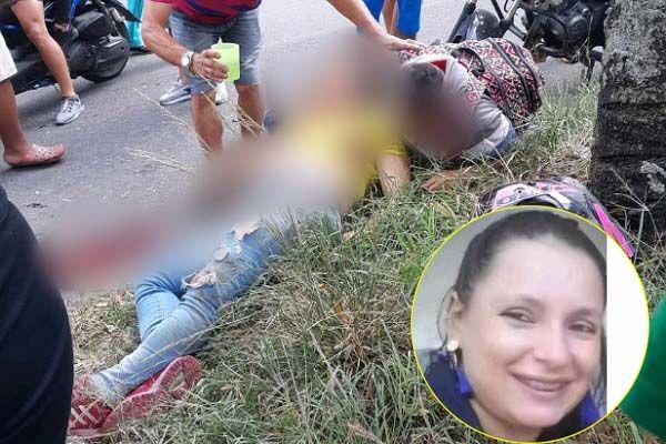 Trabajadora de estación de servicio falleció luego de chocar en su moto contra un árbol
