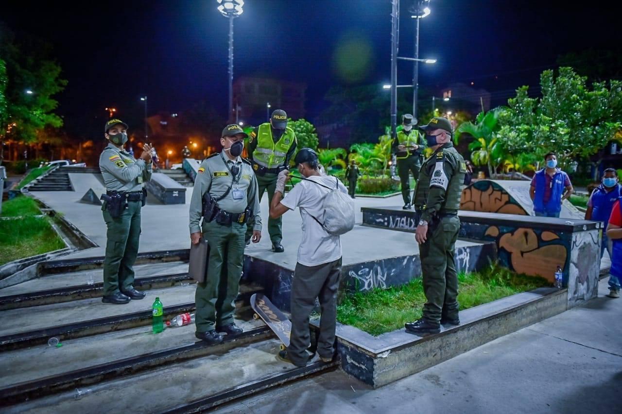 185 comparendos se impusieron durante el 'toque de queda' en Ibagué