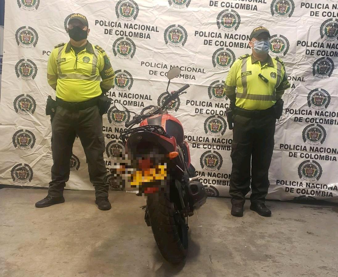Policía del Tolima recuperó dos motos robadas